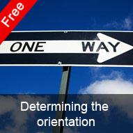 Determining the orientation